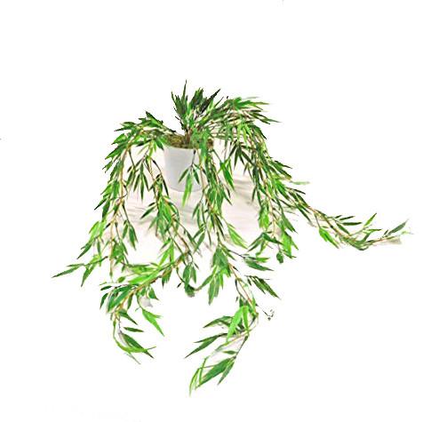 Hängepflanze Bambus Hänger Rankpflanze Kunstpflanze Kunst Pflanze Deko Dekopflanze Topfpflanze Blattpflanze Grünpflanze Kunstblume Blume künstlich unecht Topf Keramik grün getopft 184251-50 F69