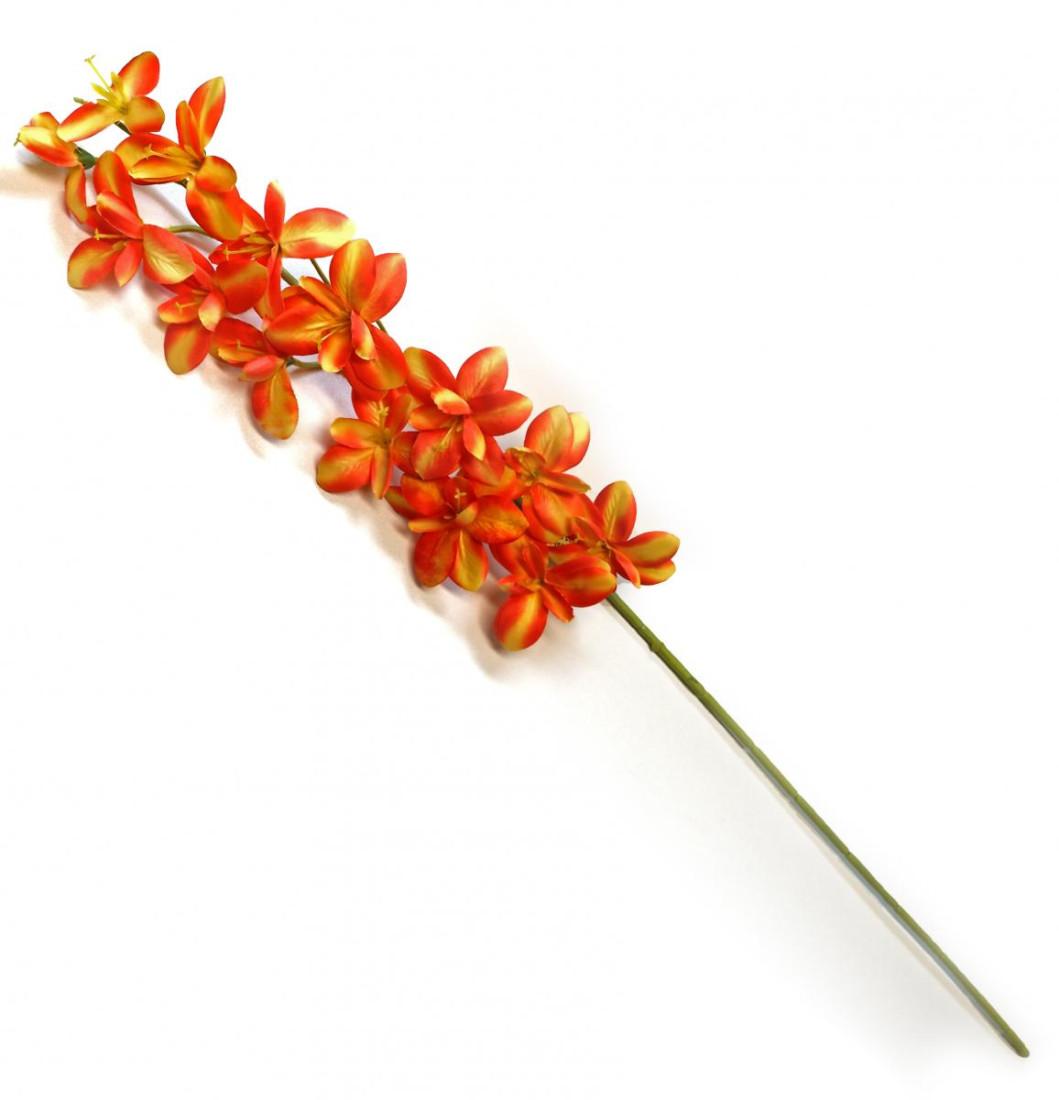Orchidee Orchideenzweig Kunstblume künstlich 90 cm orange gelb 011384OR F4