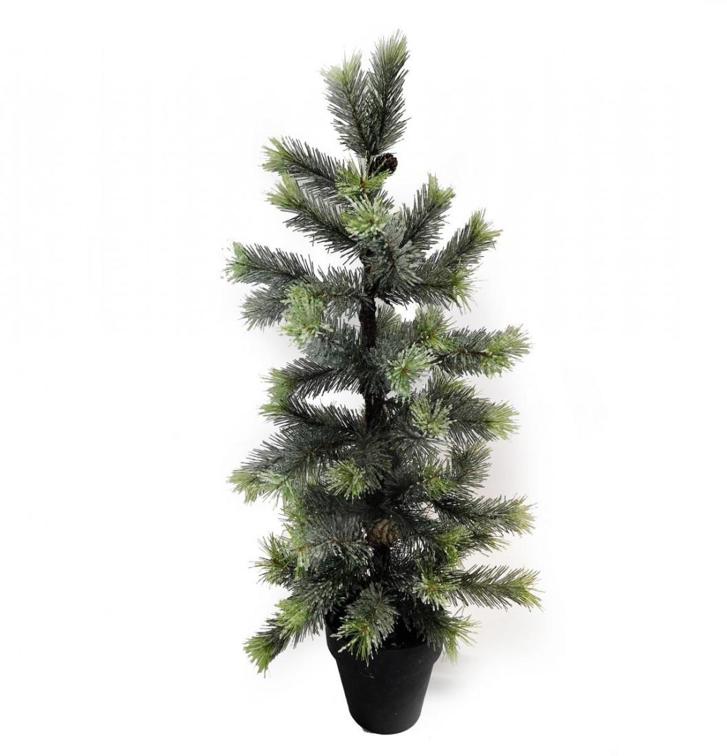Baum Tanne Fichte Tannenbaum Frost gefrostet Kunstpflanze Kunst Pflanze Deko Dekobaum Baum Kunstbaum Dekopflanze Weihnachten Weihnachtsdeko künstlich unecht Topf grün H 65 cm getopft 300718-62 F46