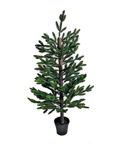 Baum Tanne Fichte Tannenbaum Kunstpflanze Kunst Pflanze Deko Dekobaum Baum Kunstbaum Dekopflanze Weihnachten Weihnachtsdeko künstlich unecht Topf getopft grün 90 cm 301709-50 F46