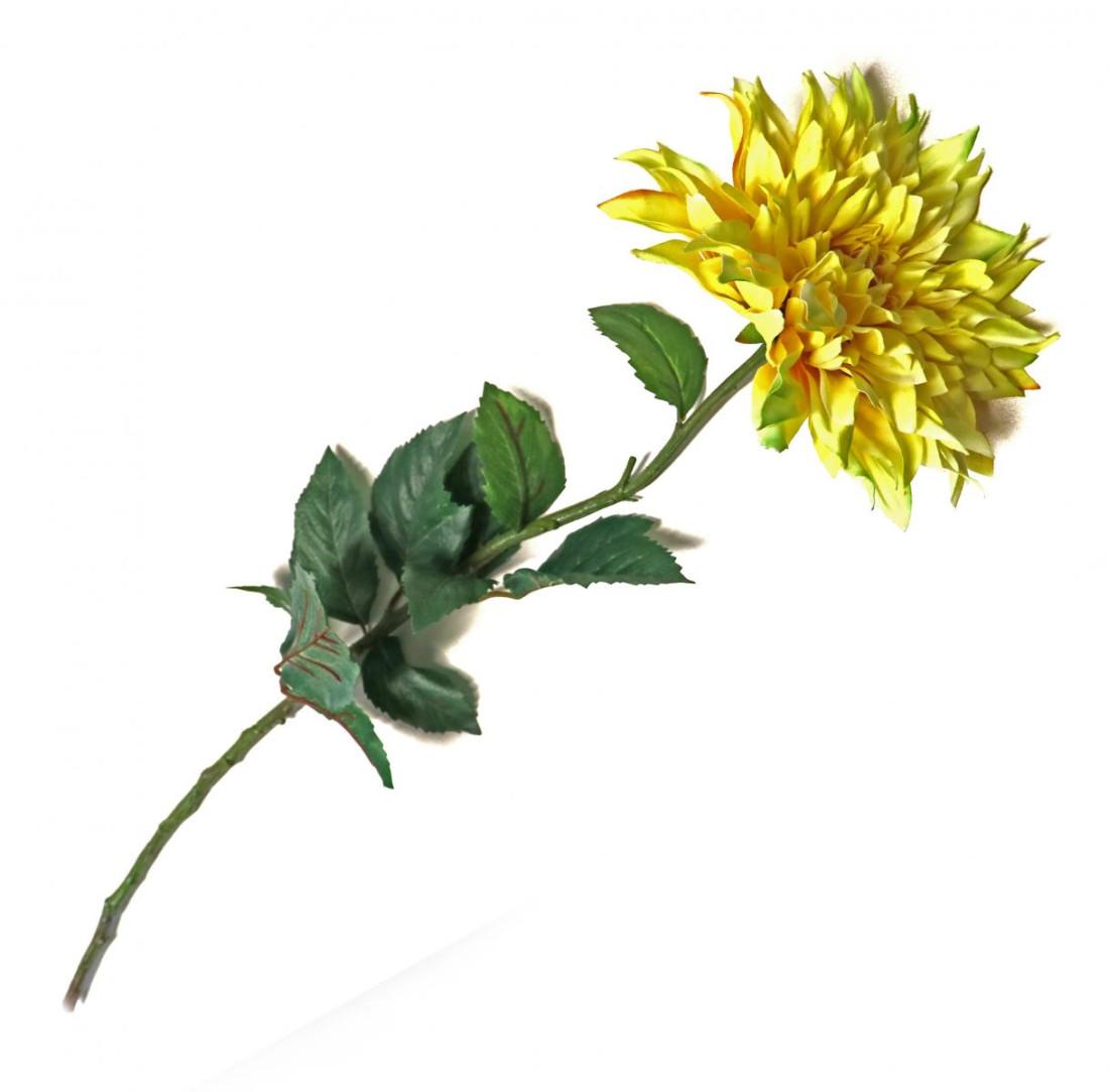 Chrysantheme Aster Kunst Blume Kunstblume künstlich gelb 78 cm 12-5774-21 F23