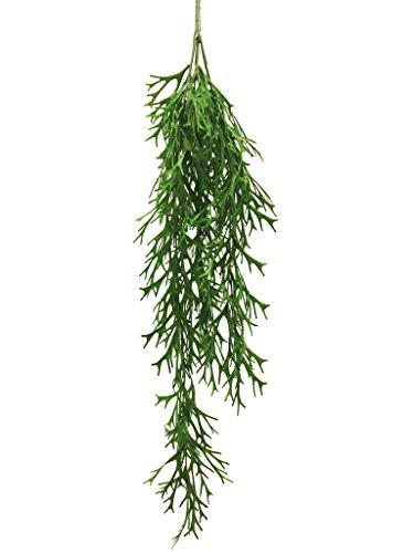 Hängepflanze Geweihfarn Farn Pflanzenhänger Rankpflanze hängend Kunstpflanze Kunst Pflanze künstlich unecht grün 80 cm 40293-1 F46