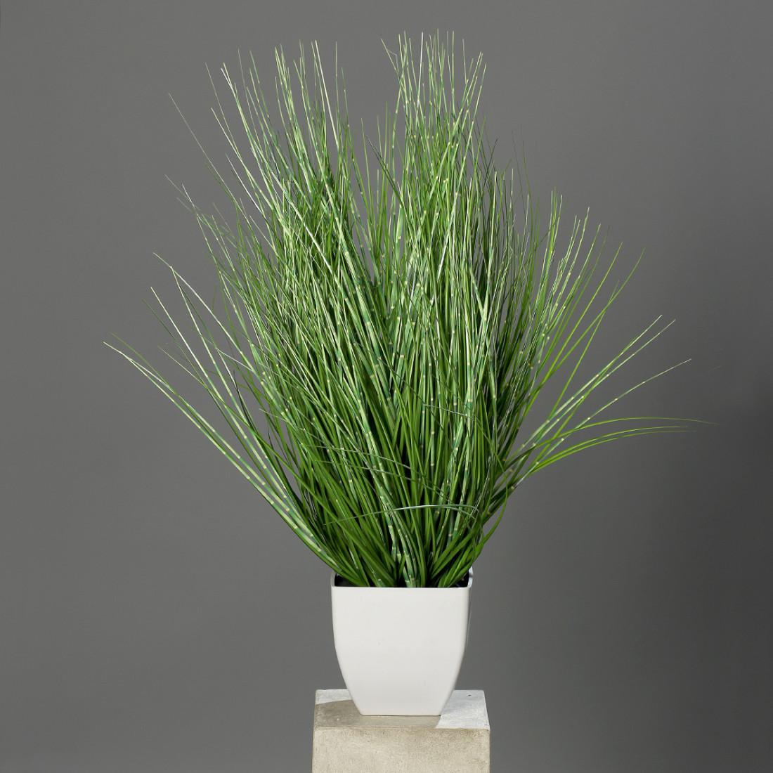 künstlicher Grasbusch Zebragras Zebra Gras Kunstpflanze 80 cm im Topf 56726 F40