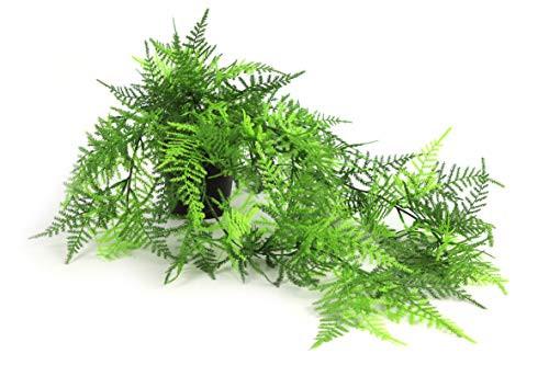 Hängepflanze Farn Hängefarn Kunstfarn Hängepflanze Pflanzenhänger Kunstpflanze Kunst Pflanze künstlich unecht Topf grün 60 cm 778825 F76