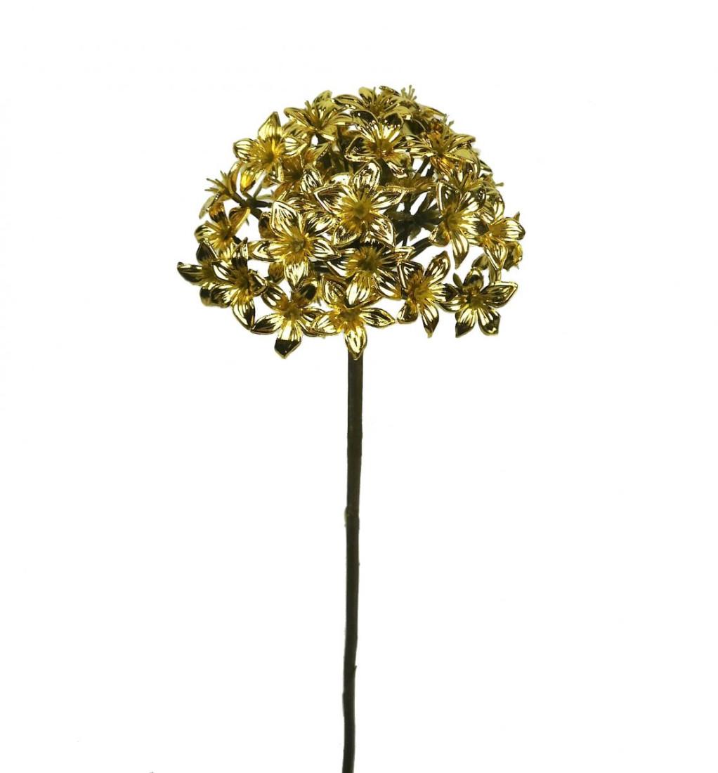 Allium künstlich Blüte Kunstblume Kunst Blume 68 cm gold 306845-01 F35