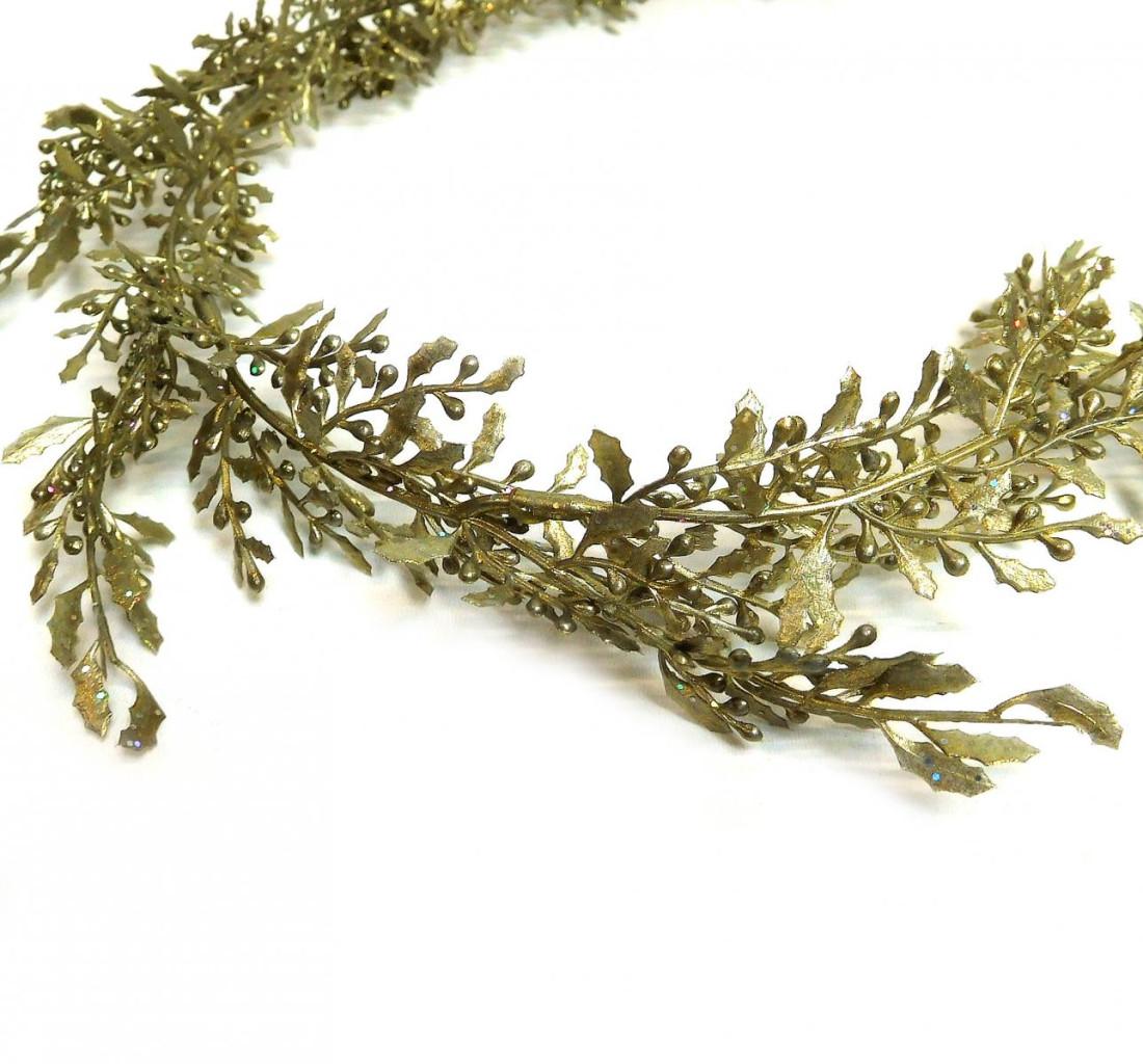 Girlande Beerengirlande Weihnachten Beeren künstlich 170 cm gold 107575-39 F36
