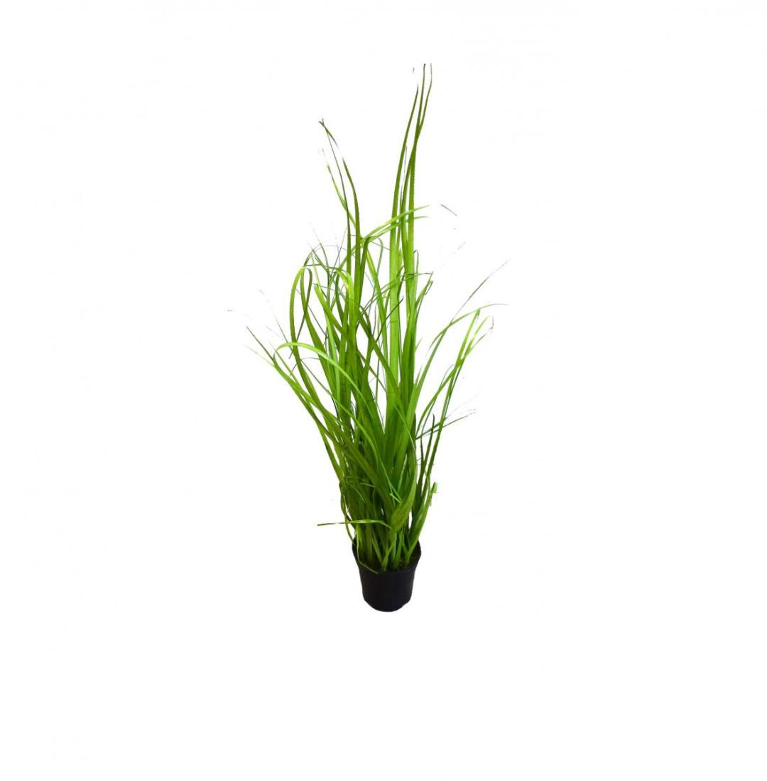 Gras Grasbusch Schilf Schilfgras Kunstgras Dekogras Deko Kunstpflanze Kunst Pflanze Dekopflanze Topfpflanze Kunstblume Blume künstlich unecht Topf grün 45 cm getopft 56430-1 F68