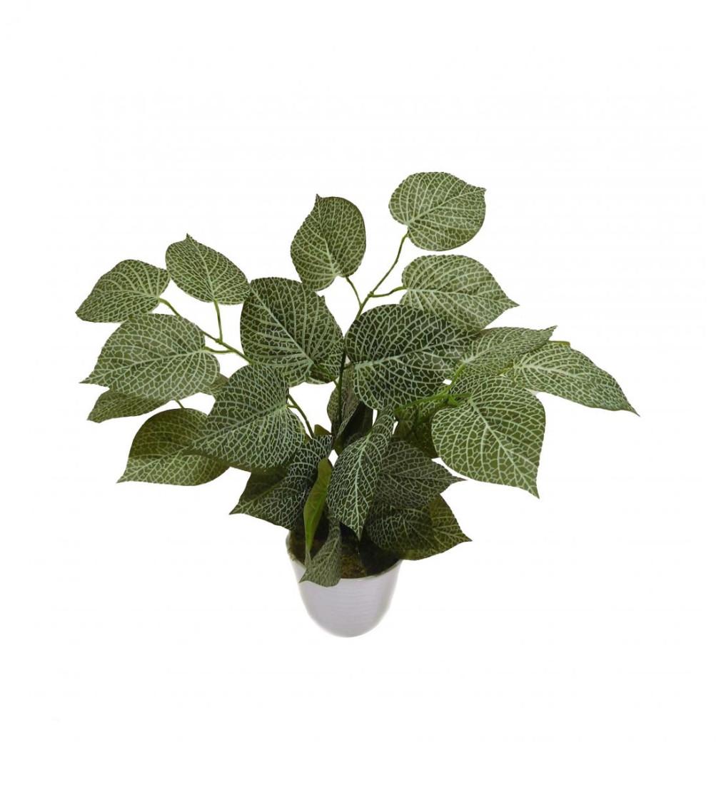 Blattpflanze Kunstpflanze Kunst Pflanze Deko Dekopflanze Topfpflanze Zimmerpflanze Grünpflanze künstlich unecht 50 cm Topf getopft N-31873-1 F69