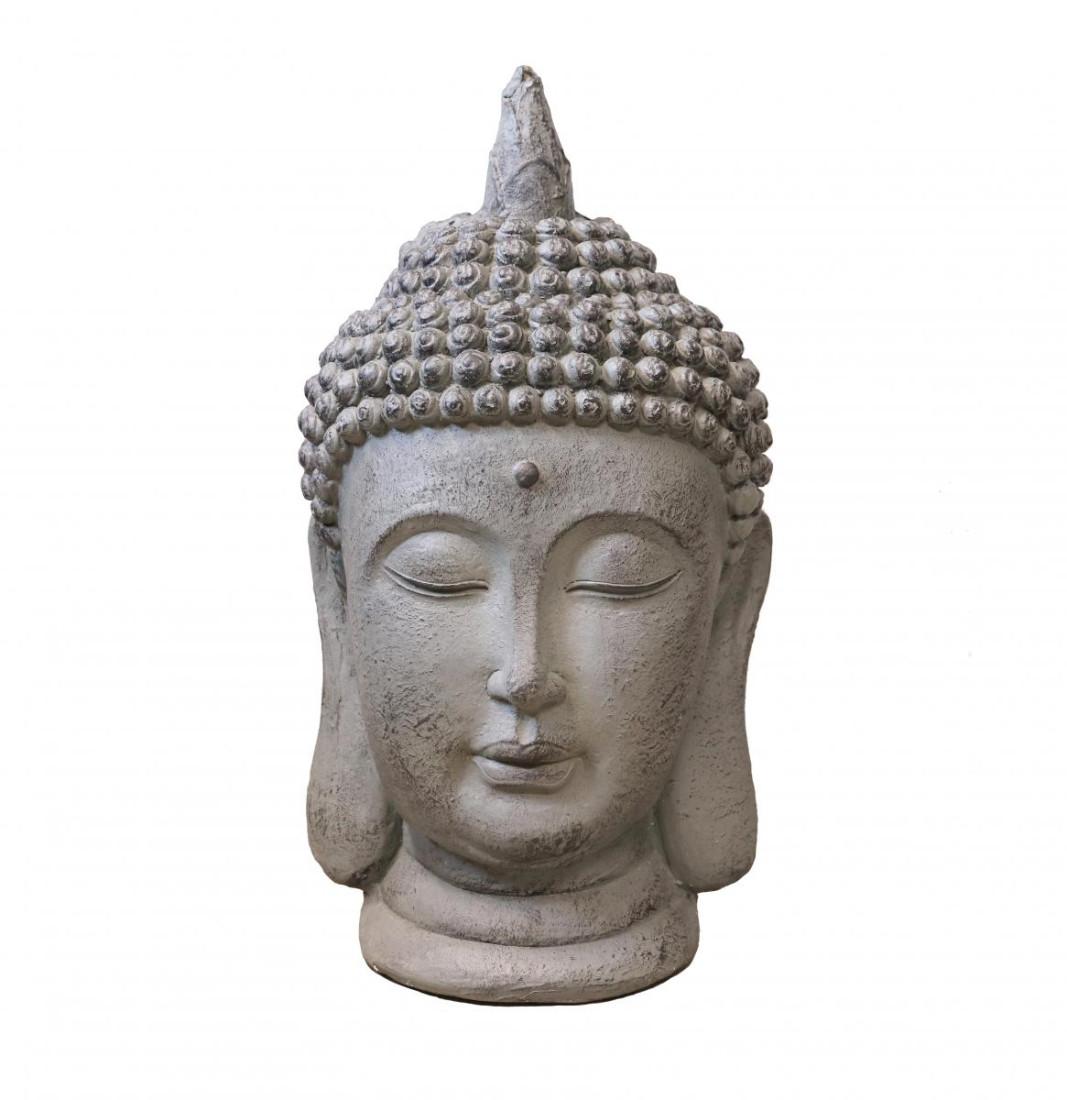 Buddha Kopf | Buddha Figur Gartenfigur Groß | Feng shui deko garten Statue Meditation XXL Höhe 55cm | 774670
