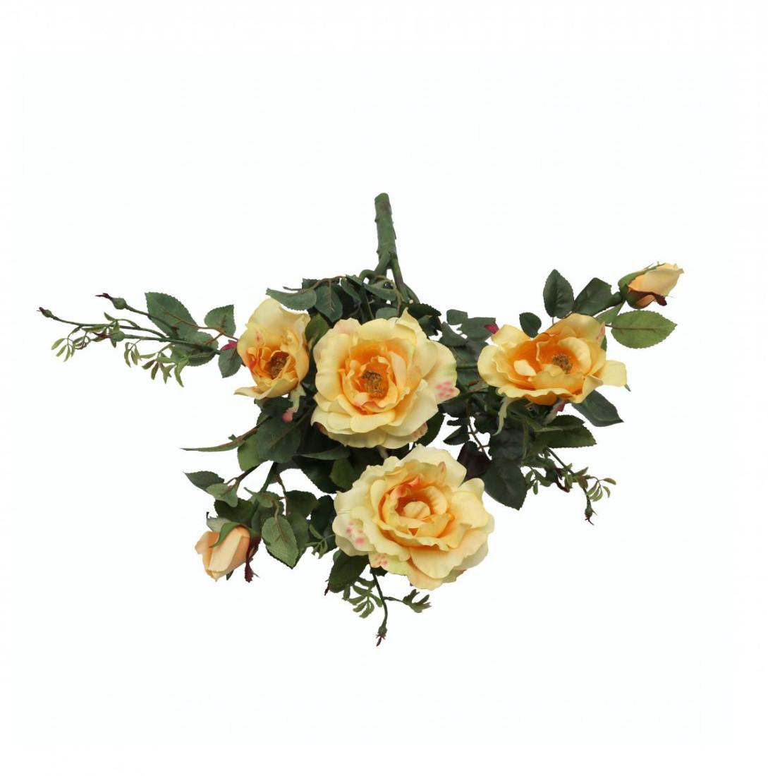 Rosenstrauß Rose Strauß Kunstblume Kunstrose künstlich 56 cm gelb 3651304A2 F12