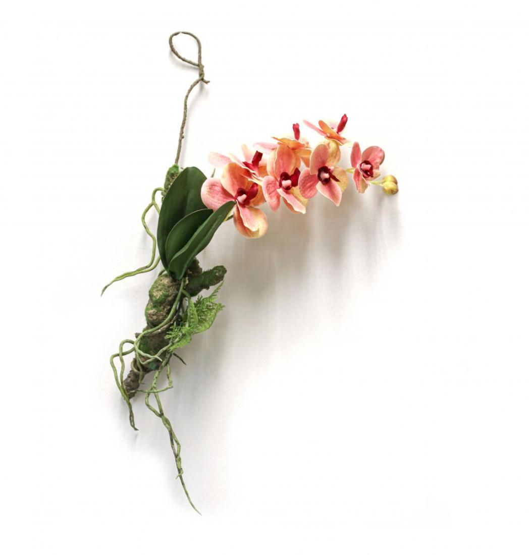 Orchidee Vanda Hänger Hängeorchidee hängend Kunstpflanze Dekopflanze Seidenblume Kunstblume Zimmerpflanze Pflanze Blume künstlich rosa 60435-08 F59