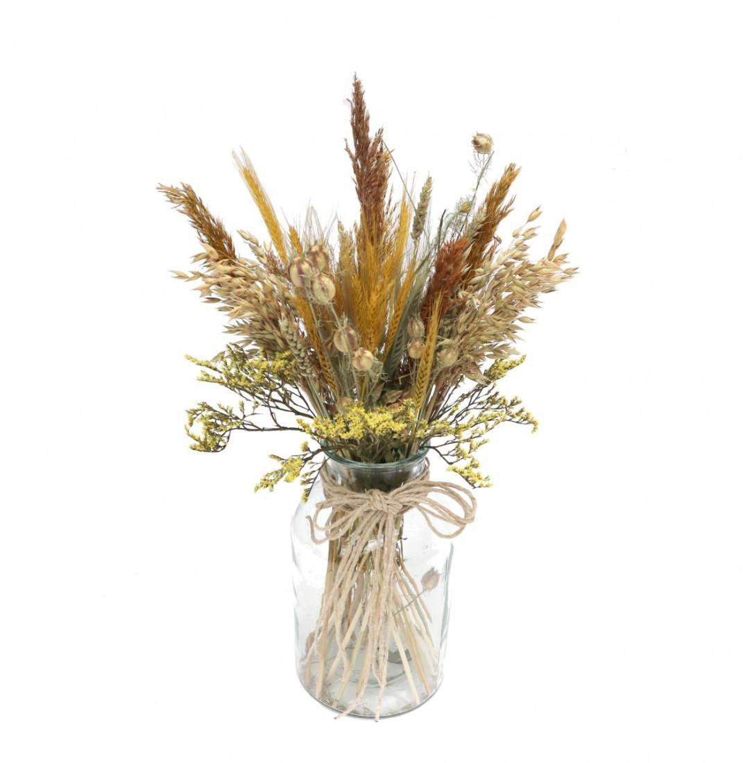 DIY Trockenblumen Set Gelb   Getrocknete Blumen   Basteln Dekoblüten Tischdeko Geschenkidee Natürlich Boho Trockenblumenset  