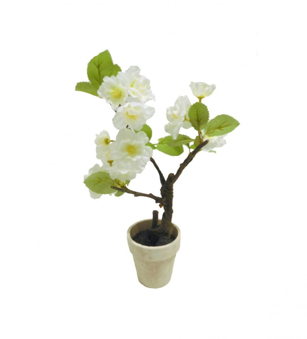 Kirschblütenbaum Kirschblüten Kunstpflanze Dekopflanze 30 cm weiß N-91239-0 F61