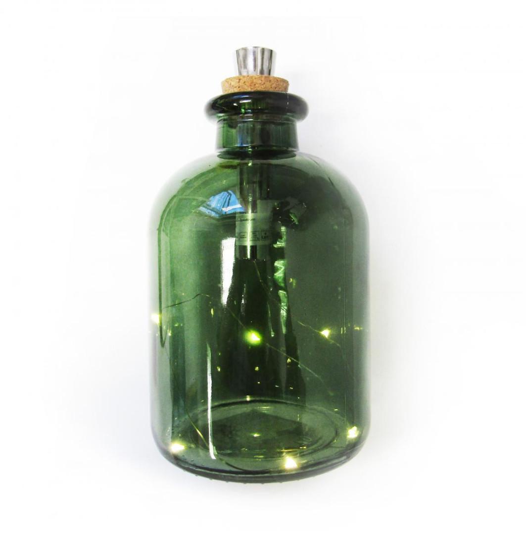 Deko Lichtflasche mit Korkverschluss 777248-1 F16 PM0016