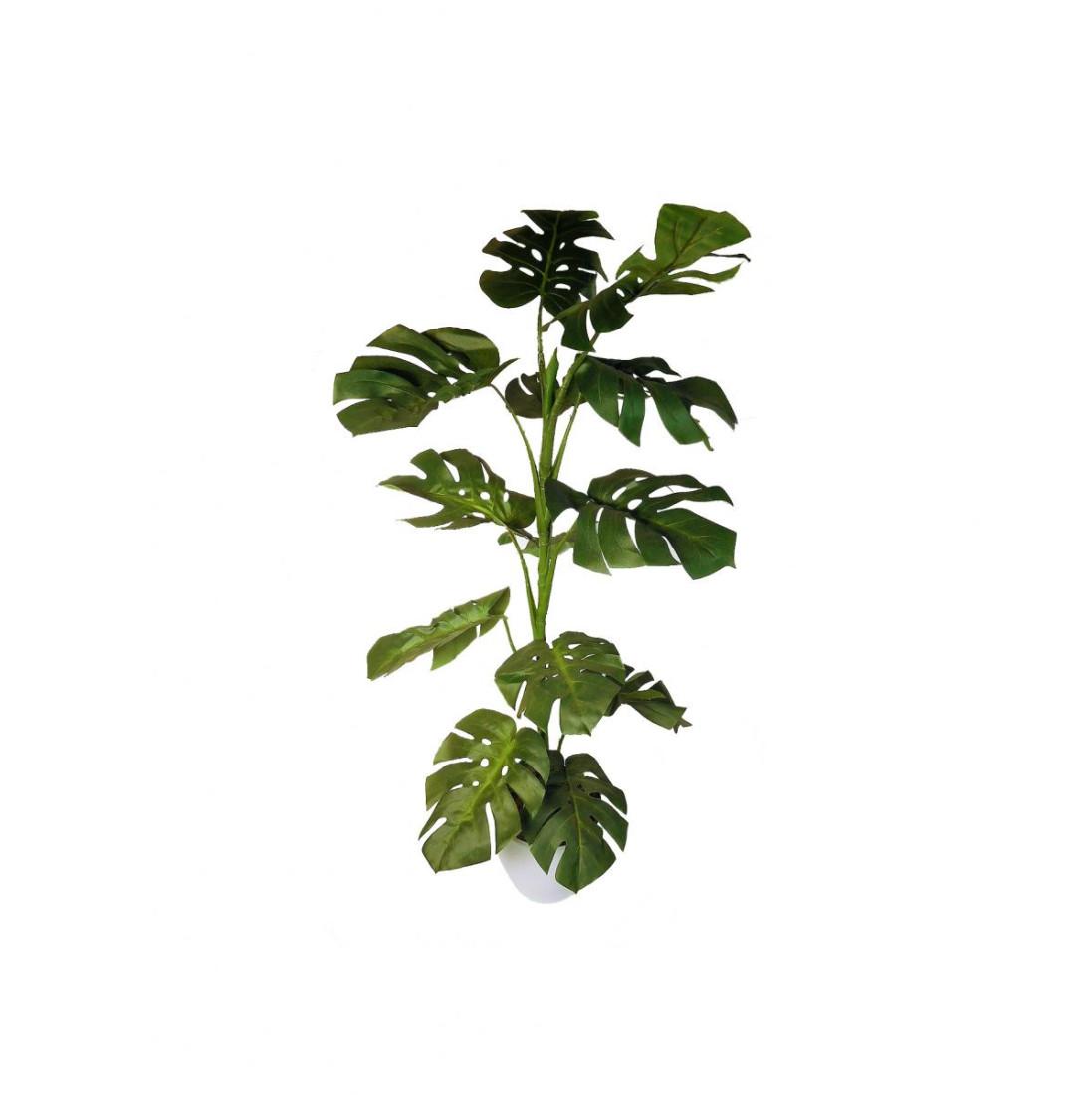 Monstera Kunstpflanze künstlich Pflanze Kunstblume 110 cm TC-83395-2 Topf F75