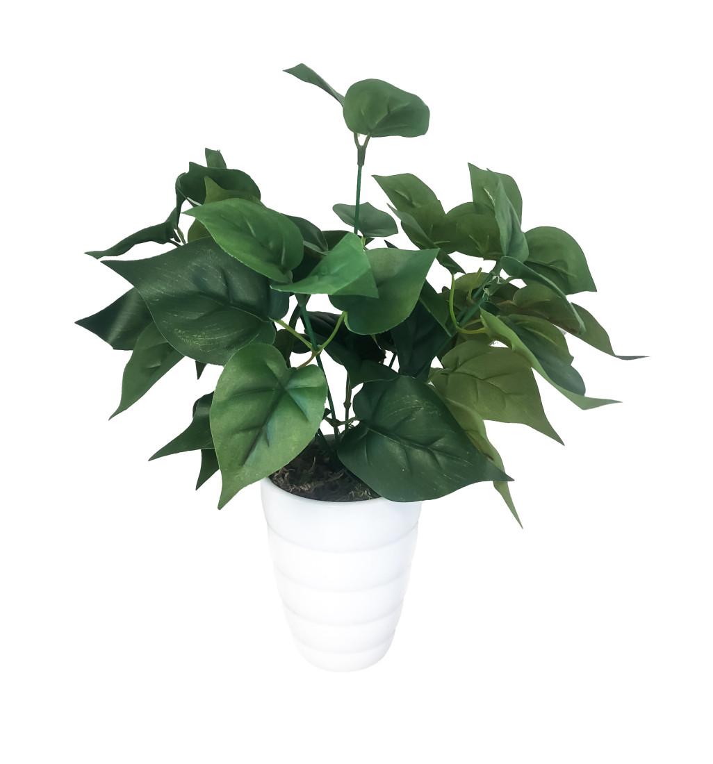 Pothos Blattpflanze Kunstpflanze Kunst Pflanze Deko Dekopflanze Topfpflanze Zimmerpflanze Grünpflanze künstlich unecht Topf 30 cm 771914 getopft F57