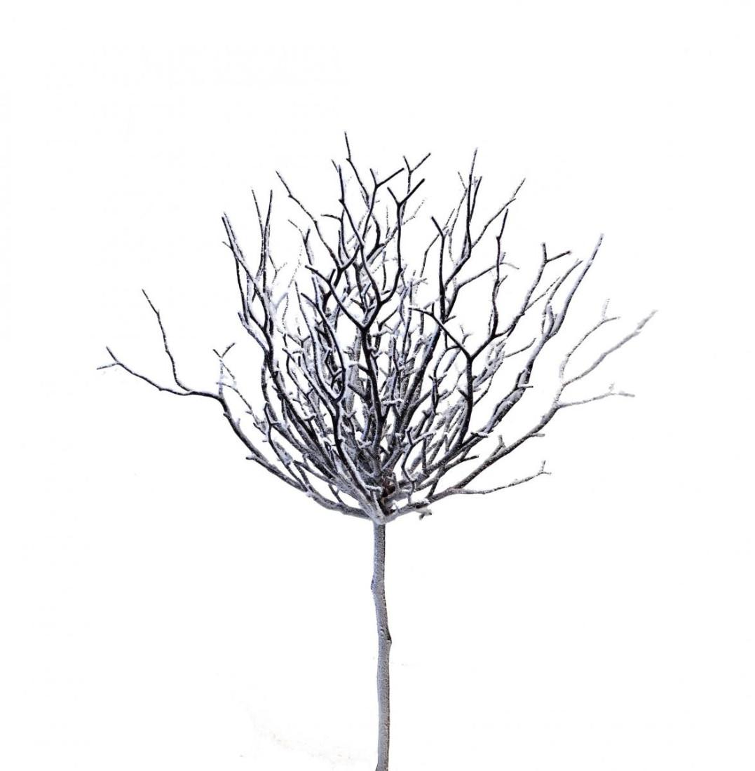 Reisigzweig mit Schnee 76cm (1 Stück)