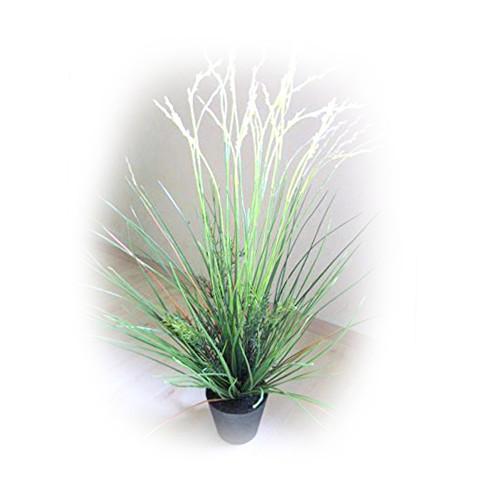 Gras Grasbusch Kunstgras Dekogras Deko Ziergras Kunstpflanze Kunst Pflanze Dekopflanze Topfpflanze Kunstblume Blume künstlich unecht Topf grün 80 cm TC-76310 getopft F49