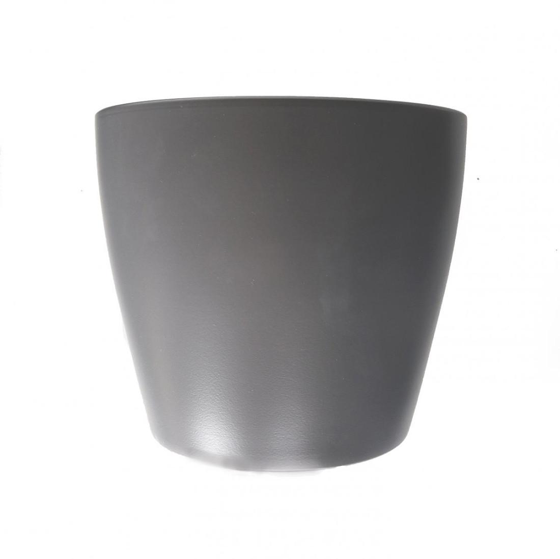 Topf aus Keramik-Grau