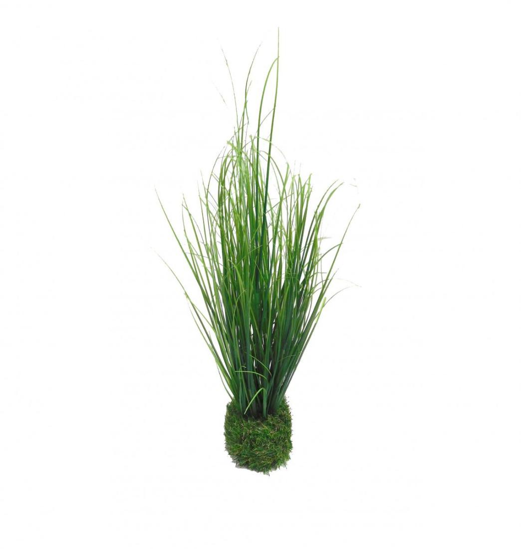 Grasbusch mit Ballen Gras Ziergras Kunstpflanze Dekopflanze H 50 cm 52653 F42