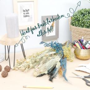 DIY Trockenblumen Set Blau | Getrocknete Blumen | Basteln Dekoblüten Tischdeko Geschenkidee Natürlich Boho Trockenblumenset |