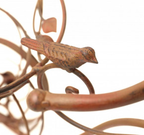 Pflanzfahrrad Blumentopfhalter Pflanzkorb Pflanzrad Übertopf Gartendeko Metall braun Vögel Vogel SW090690